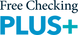An image of the free checking plus logo